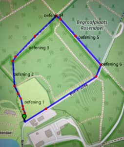 Start locatie parcours Rozendaal